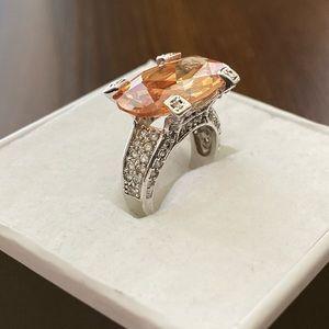 Pumpkin Faux Diamond Ring